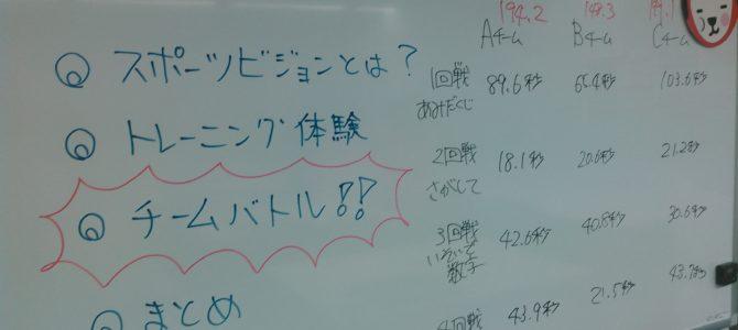 速読体験会実施!! ~スポーツビジョントレーニング編 第2回~